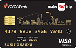 MakeMyTrip ICICI Bank Signature Credit Card