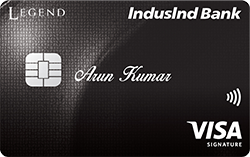 IndusInd Bank Legend Credit Card VISA